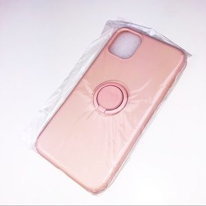 IPhone 11 Pink Case With Ring Holder Matte Satin